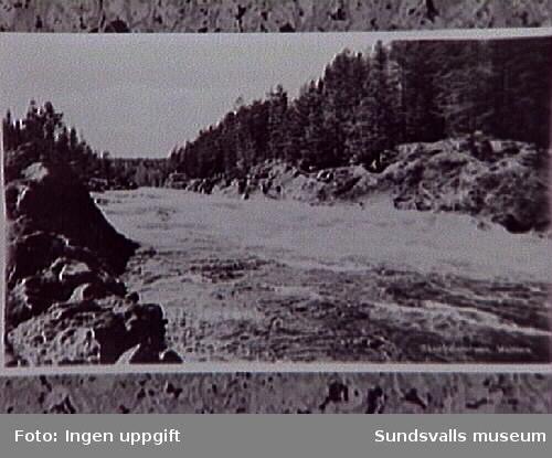 Skallböleforsen före utbyggnaden, som ägde rum år 1940 ca.