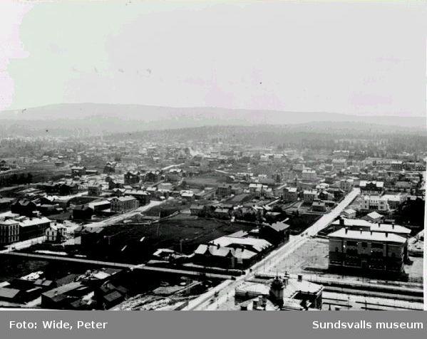 Utsikt från kyrktornet mot söder.