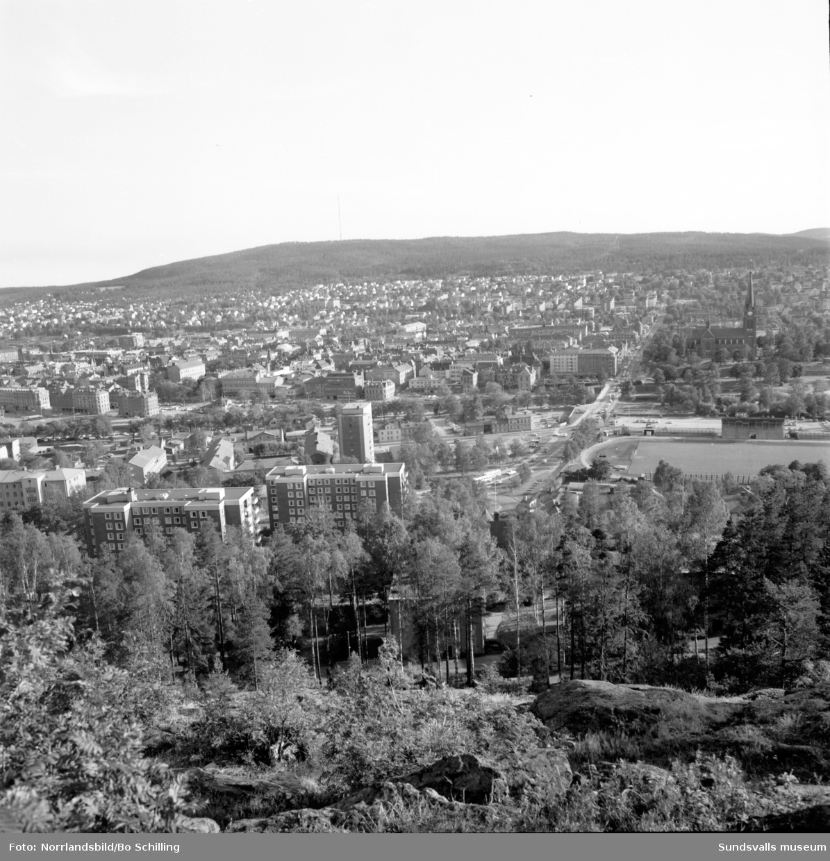 Sundsvall från Norra berget.