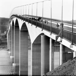 Alnöbron. Strax före invigningen.