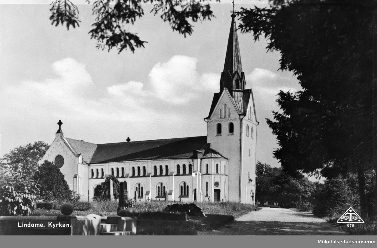 """""""Lindome. Kyrkan"""", 1930 - 50-talet."""
