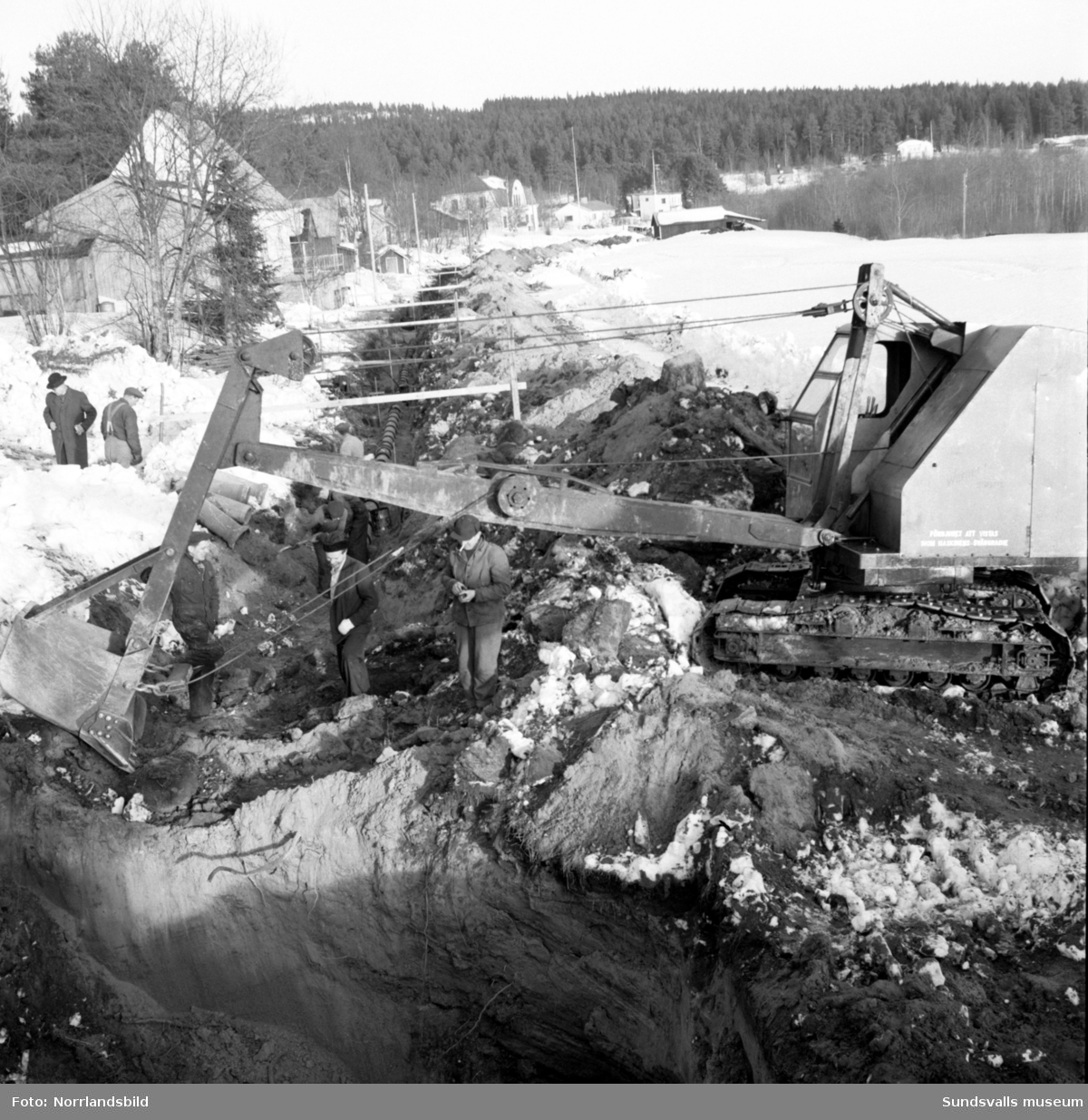 Vattenledningsbygge i Stavreviken.