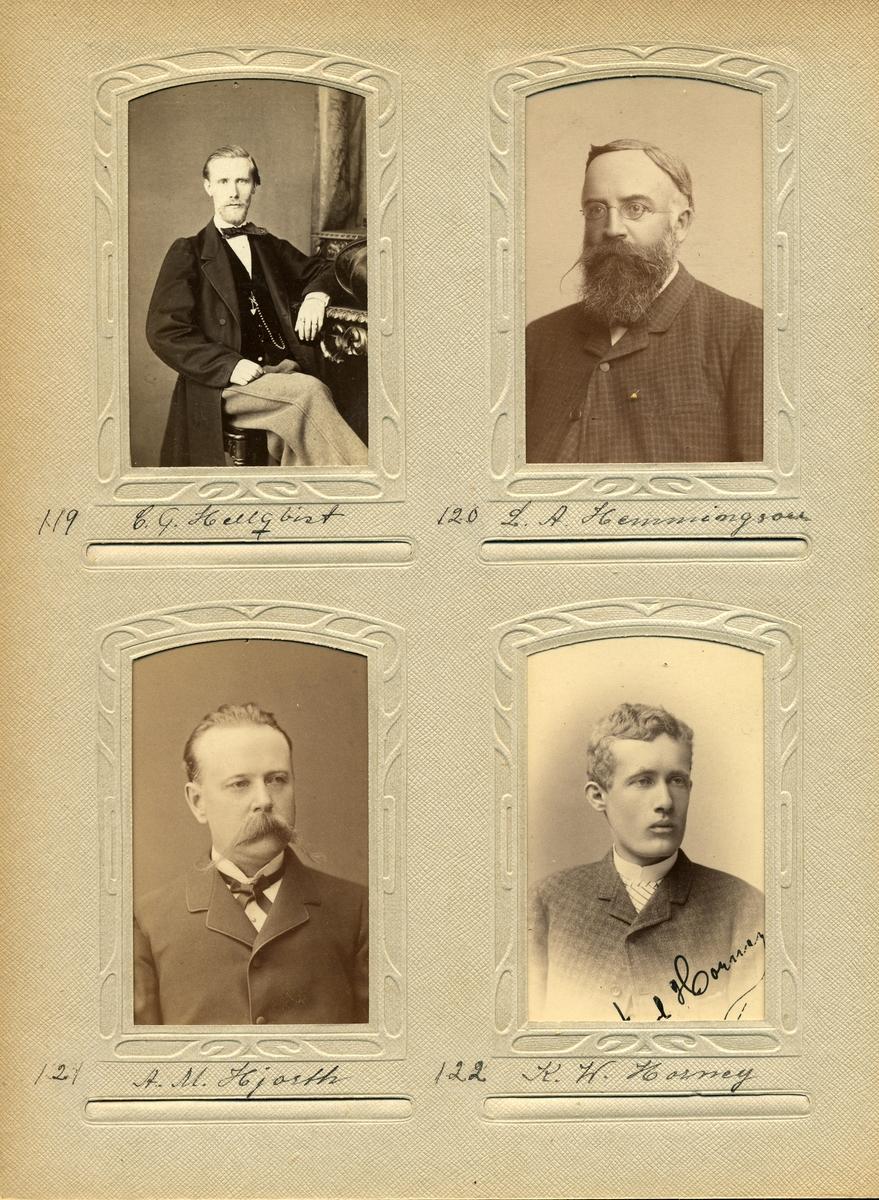 Porträtt av Carl Gustaf Hellqvist, postmästare i Sävsjö 1872-1904.