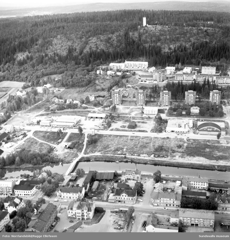 Flygfoton över rivningsområdet på Västermalm.