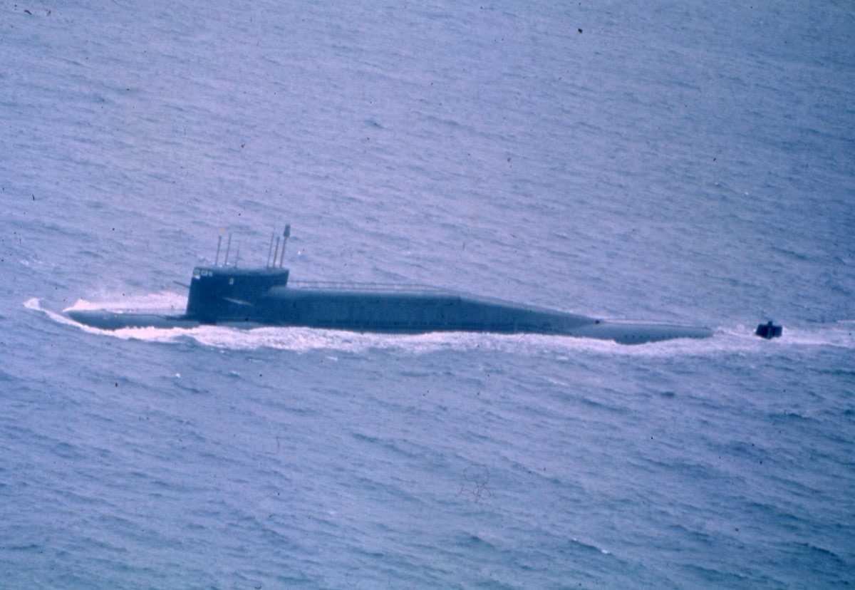 Russisk ubåt av Delta III - klassen.