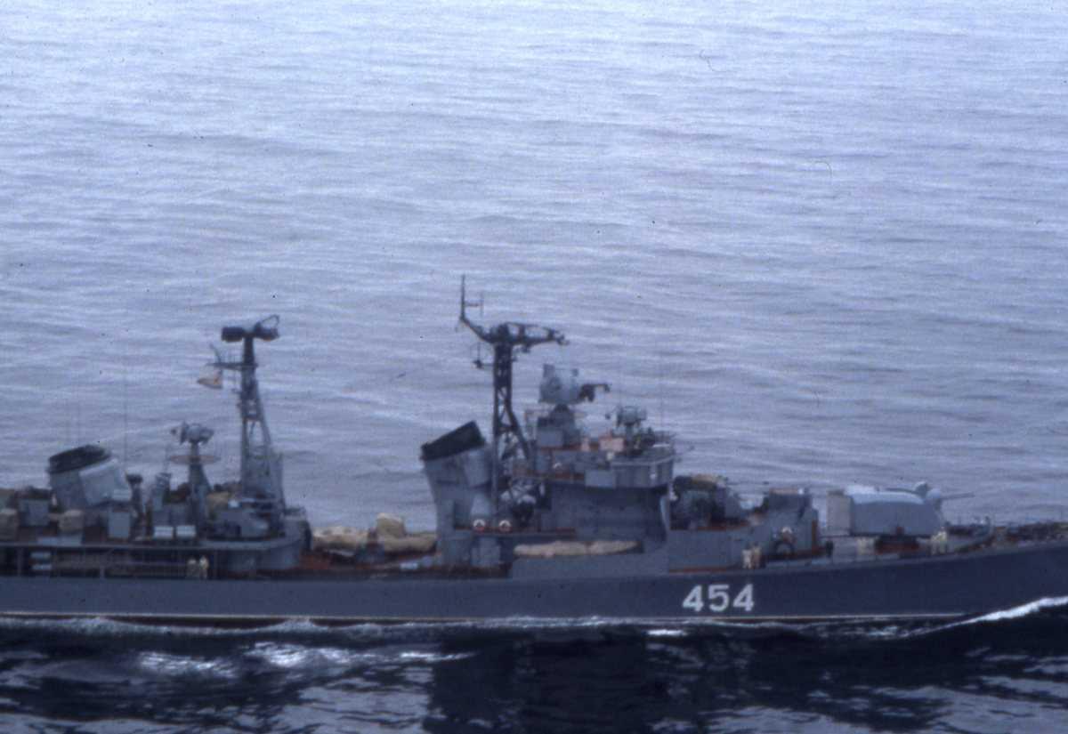 Russisk fartøy av Modifisert Kotlin - klassen med nr. 454.
