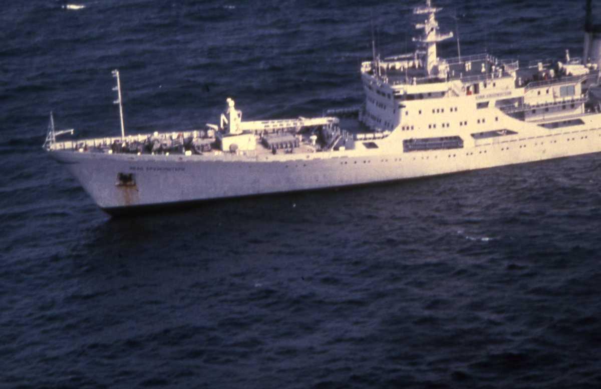 Russisk fartøy av Akademik Krylov - klassen som heter Ivan Kruzenshtern.