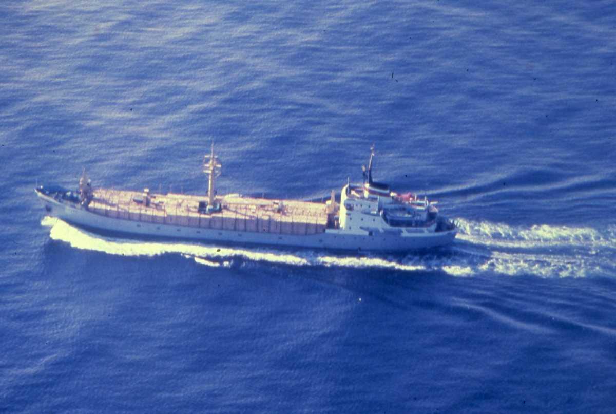 Russisk fartøy av Igarkales - klassen. Trelastbåt.