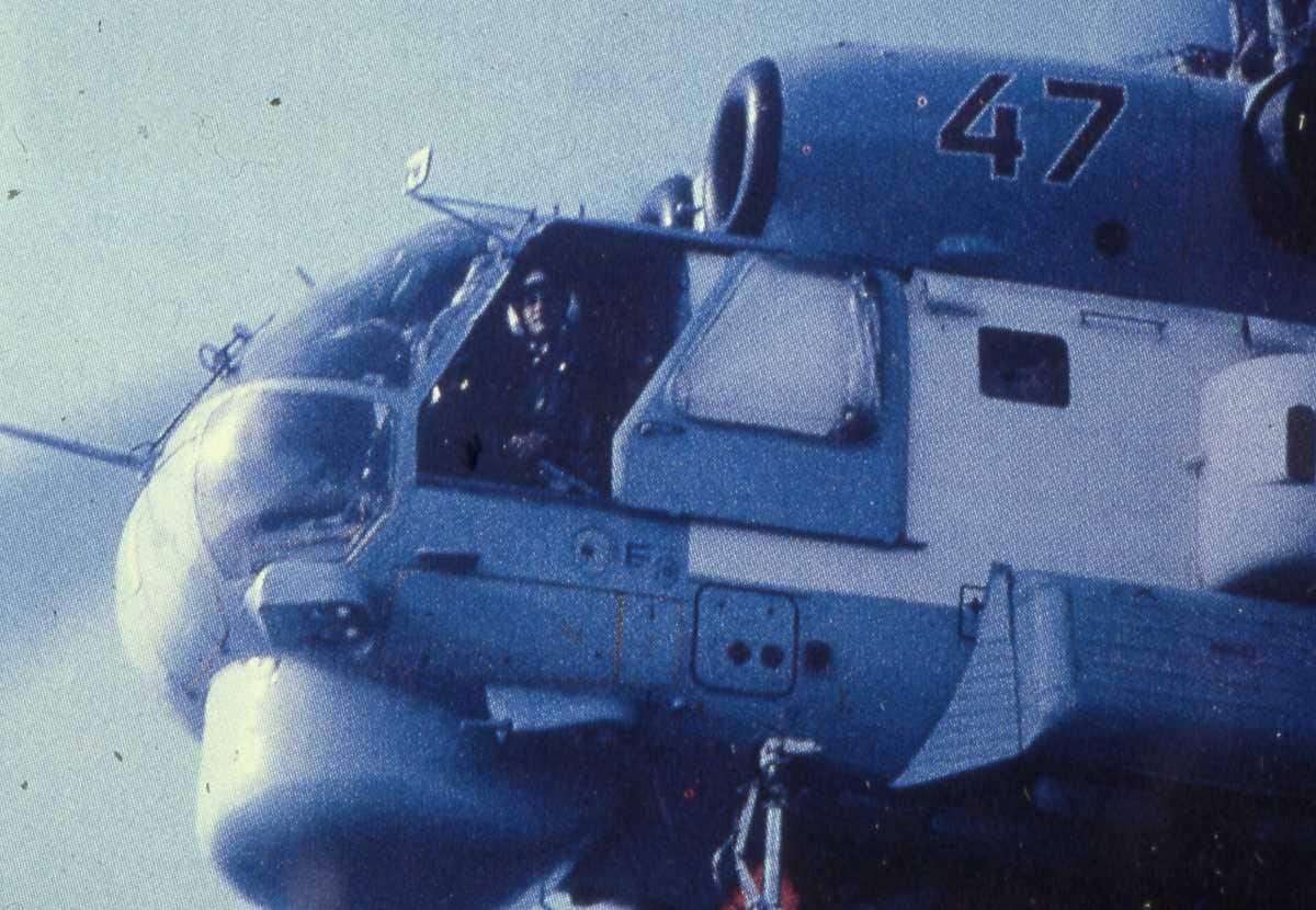 Russisk helikopter av typen Kamov Ka-27 med nr. 47.