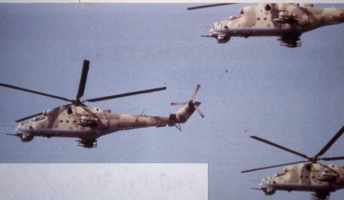 3 stk ungarske helikoptere av typen Mil Mi-24D Hind D.