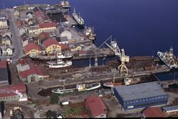 Flyfoto av Kaarbøverkstedet.