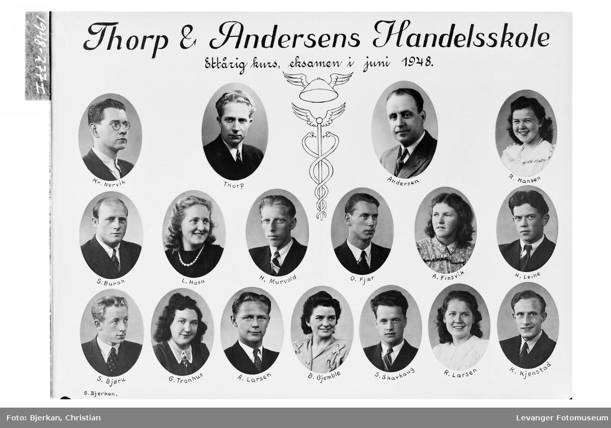 Thorp & Andersens Handelsskole, ettårig kurs 1948