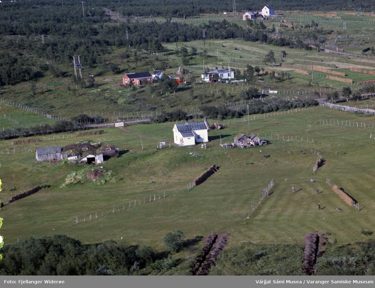 Flyfoto av Buvrenjárga / Burnes i Unjárgga gielda / Nesseby kommune, 1963.