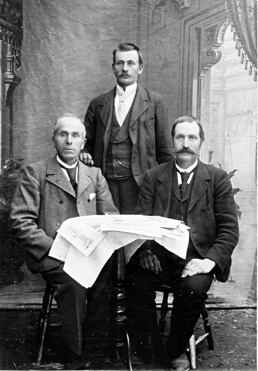 Gruppebilete, Olav K. Brokke, Knut G. Veum og Ånund K. Liarheim