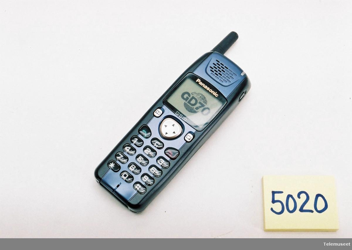 Type EB-GD70 DETTE ER EN DUMMY UTGAVE. Standby tid: 180T. Sendetid 7,5t Batteri: Panasonic 3,6V 1500m Lion