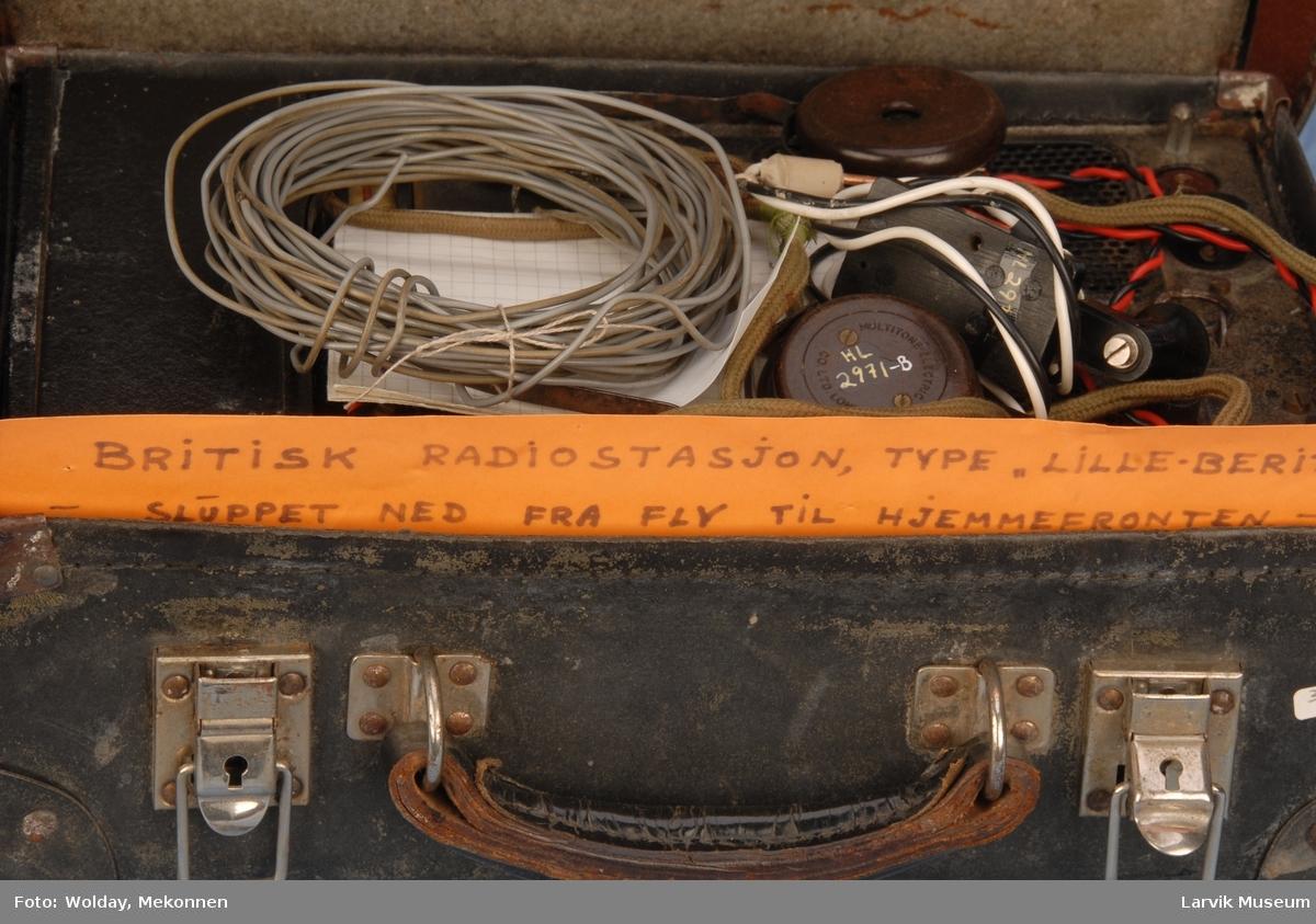 Form: kuffert med sender SER.NO MC 19238 Innhold i boks: Reservedeler.