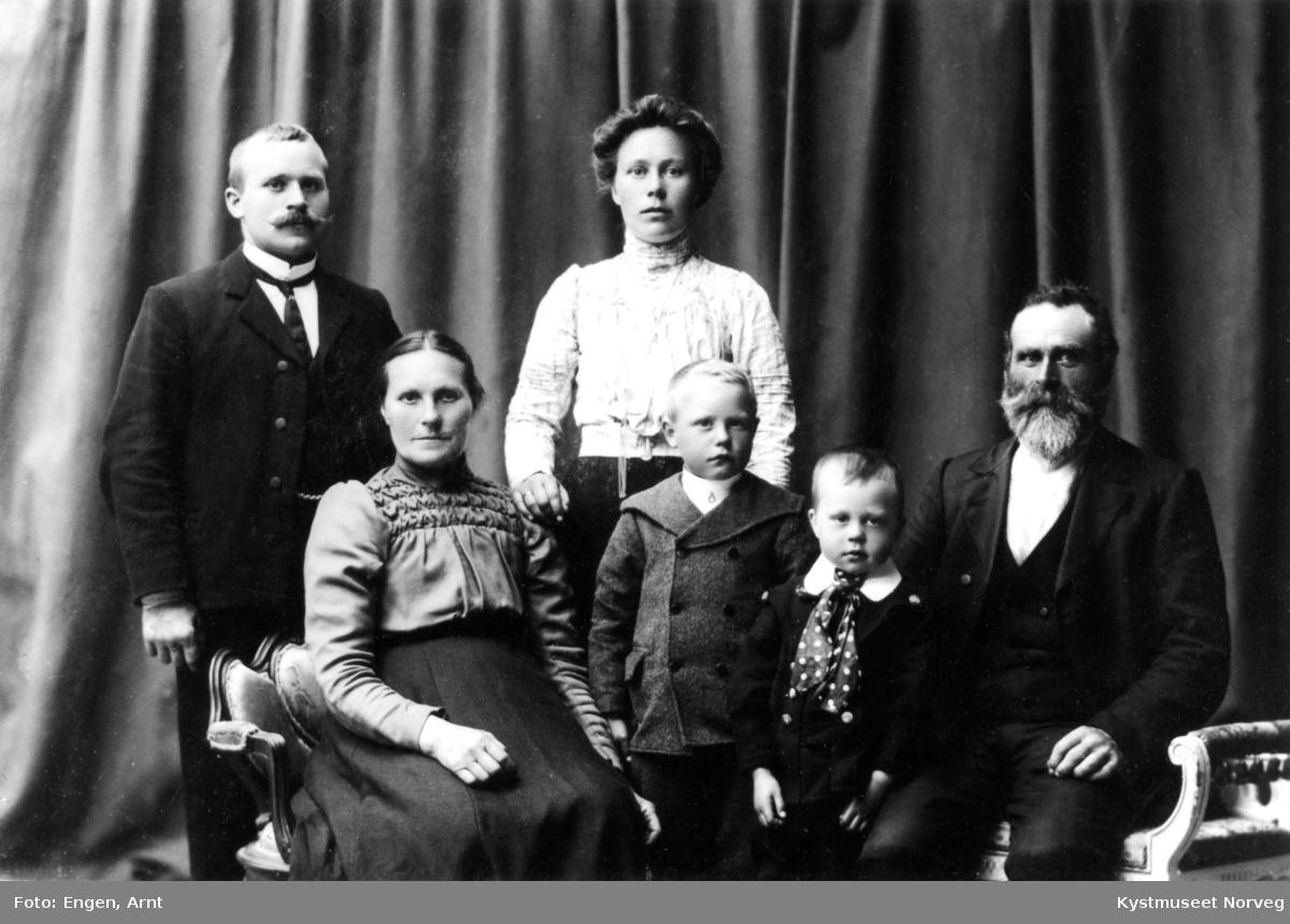 Elise, Thomas, Alf, Anna Hegge og Andreas og Kristian Myrmo