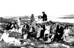 Barnelosjen på tur i Valøya i Vikna