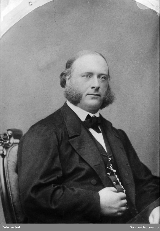Porträtt. Carl August Kihlbaum, Maria Kihlbaums far.  Repro