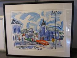 Kunstverk av John Simonsen som var planlagt at skulle utsmyk