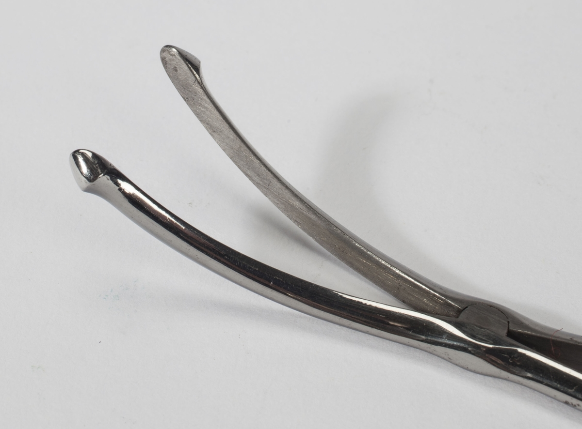 Kirurgisk tang i stål.