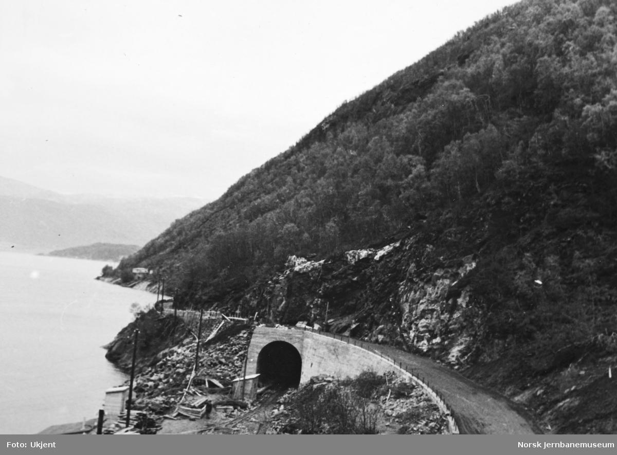 Anlegget Mosjøen-Mo i Rana : tunnelutmuring og vegomlegging for Rynesåsen tunnel, pel 515