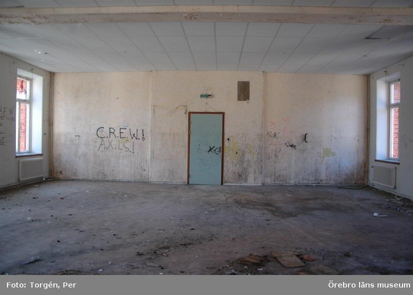 Dokumentation av Garphyttans sanatorium, interiör, matsal på andra våningen.27 april 2005.