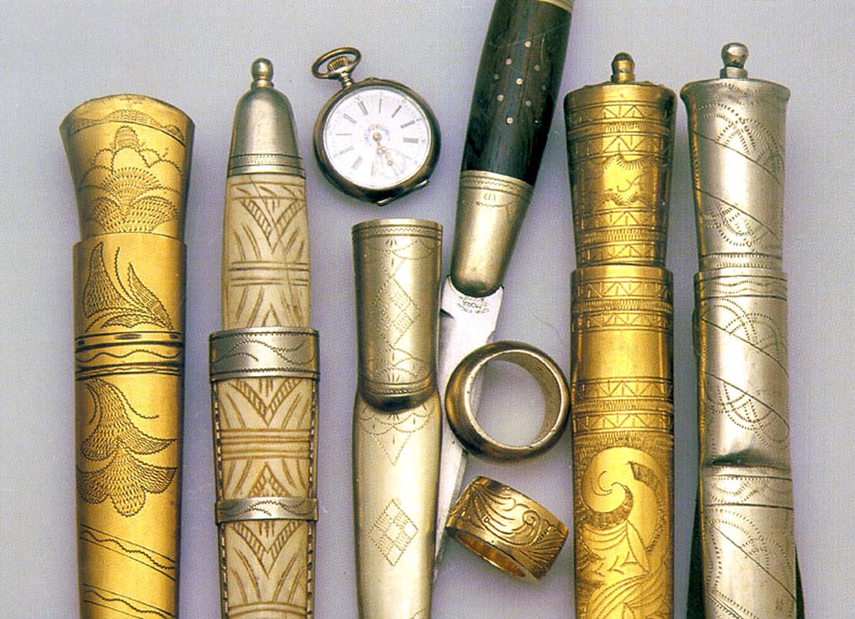 Kniver laget av tater/romanifolket