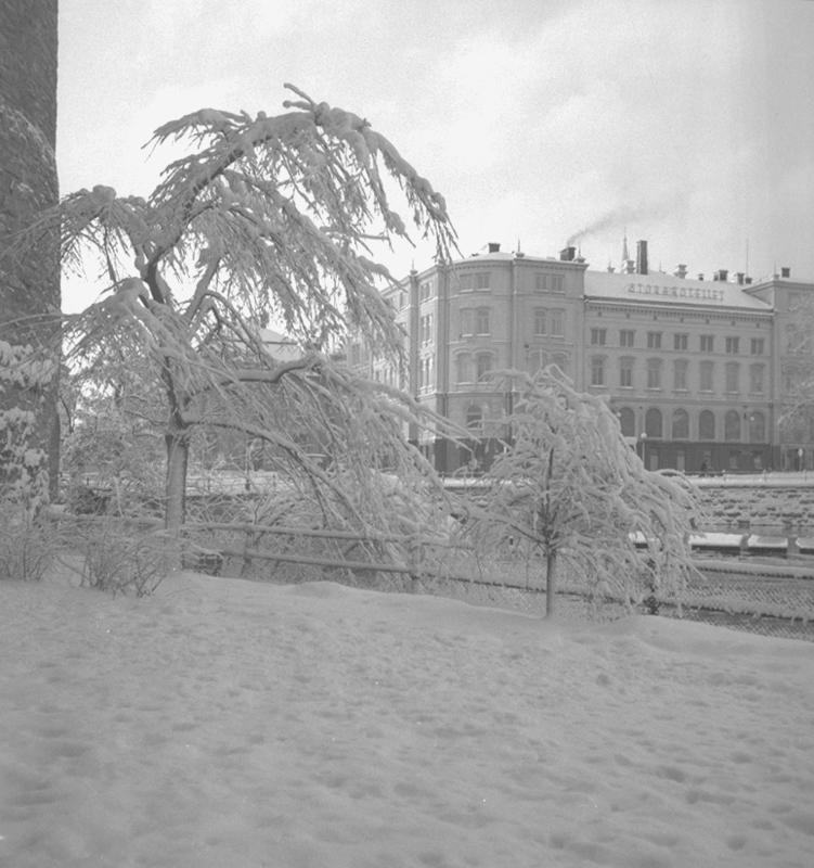 Örebro, Stora Hotellet, exteriör.28 december 1949.