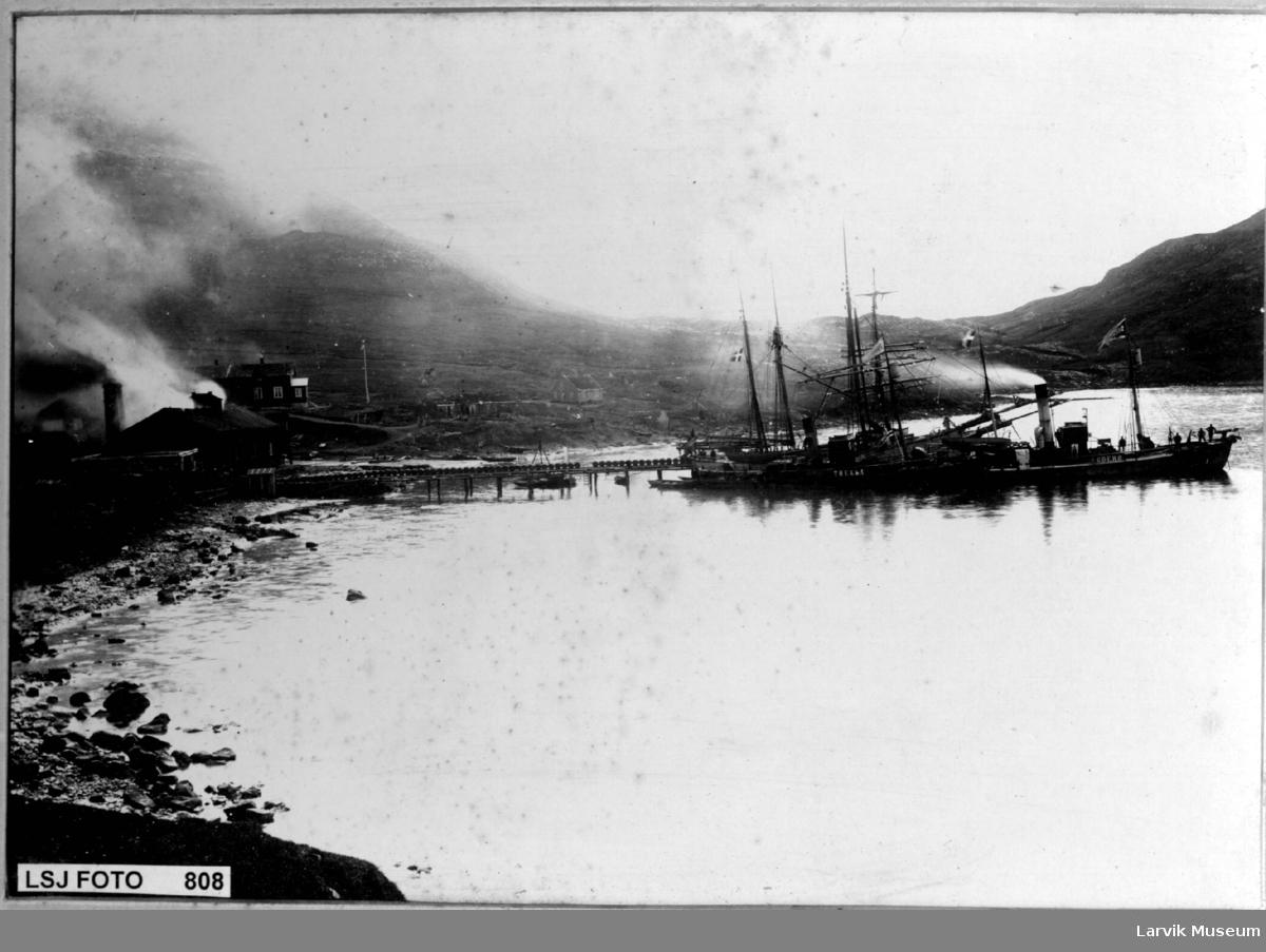 Hvalbåter bl.a. Thekla og en Suderøy båt