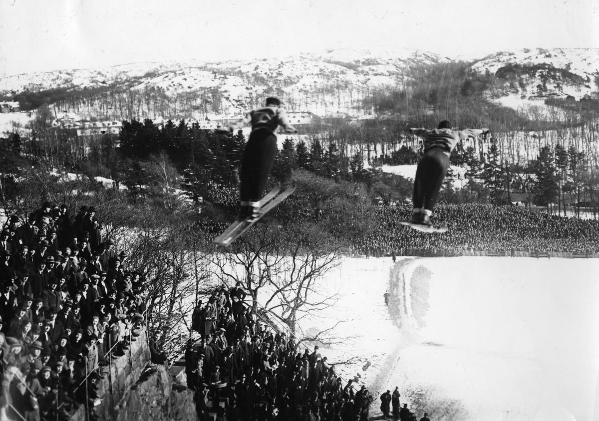 Kongsberg athletes in double jump