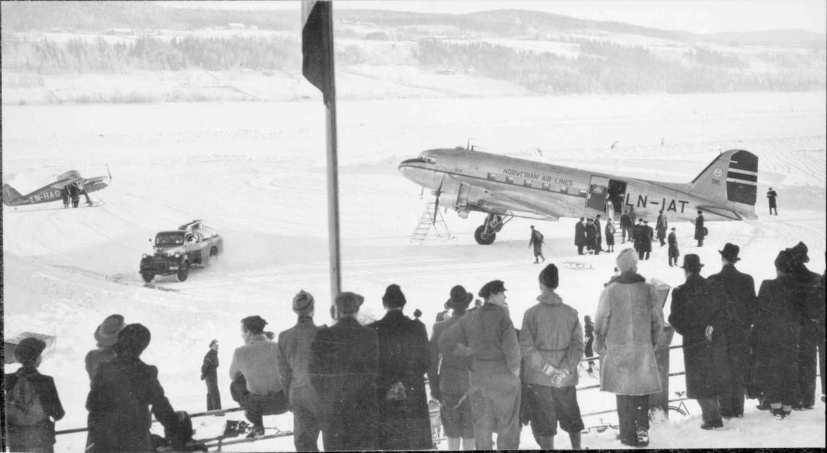 Repro: Rutefly på Mjøsisen v/Lillehammer.