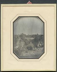 Daguerreotyp. I förgrunden Sandrymningen, från vars södra ka
