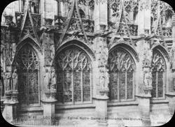Skioptikonbid, vykort men motiv av Cathédrale Notre-Dame d'L