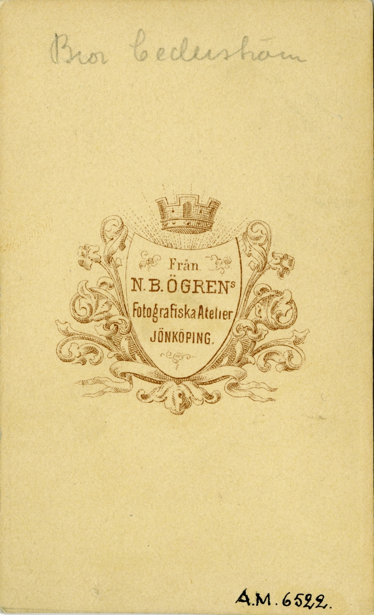 Porträtt av generallöjtnant Bror Cederström, chef för Cederströmska husarregementet 1816-23.