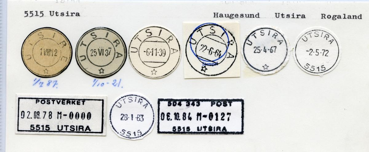 Stempelkatalog 5515 Utsira (Utsire), Haugesund, Utsira, Rogaland