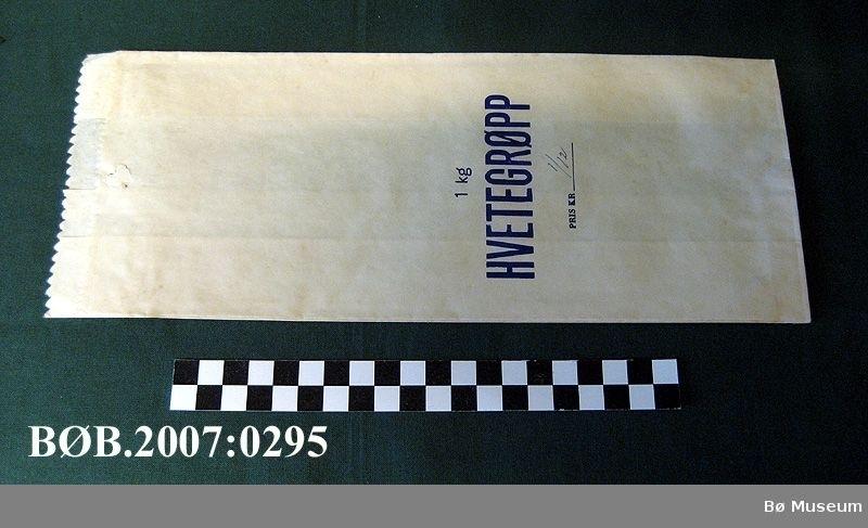 Papirposar til 1 kg hvetegrøpp