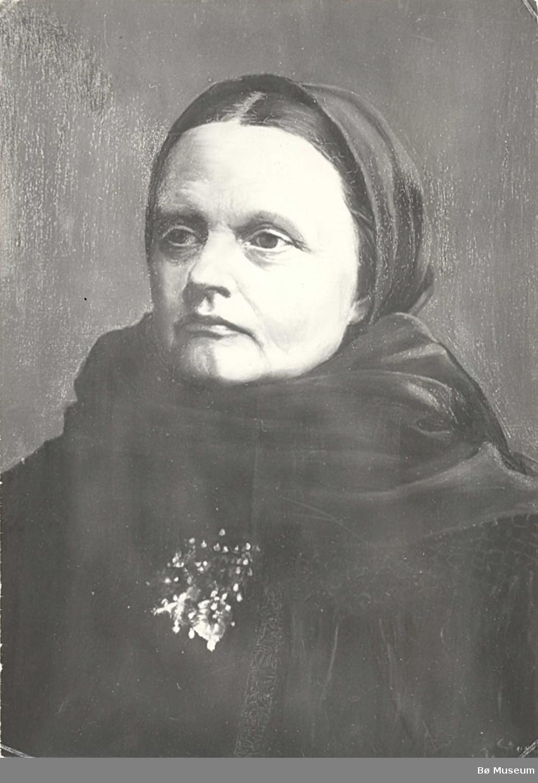 Foto av måleri av Aslaug G. Opdal i Bø