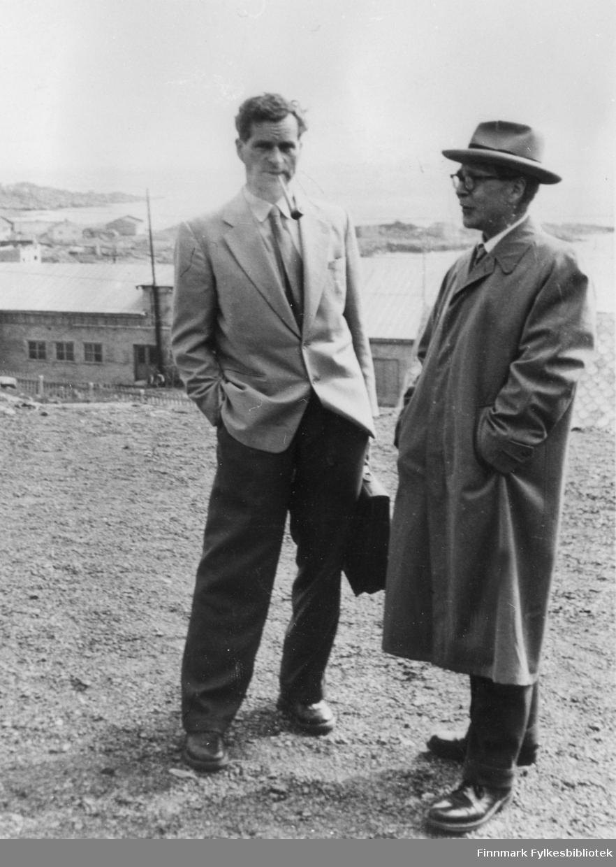 Lensmann Arvid Dahl og Veisjef Johannes B Irgens.