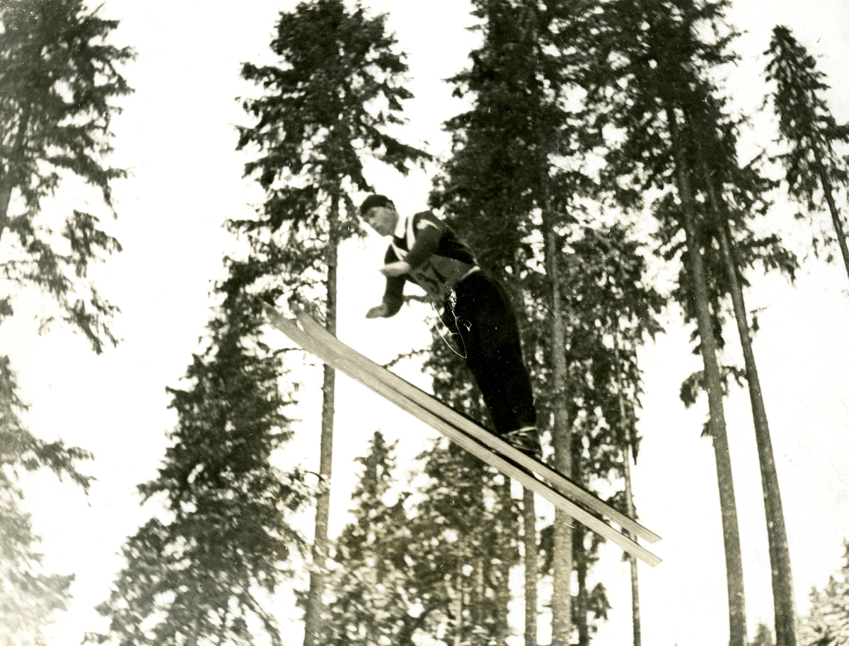 Norwegian skier Grøttumsbraaten in OG at Lake Placid