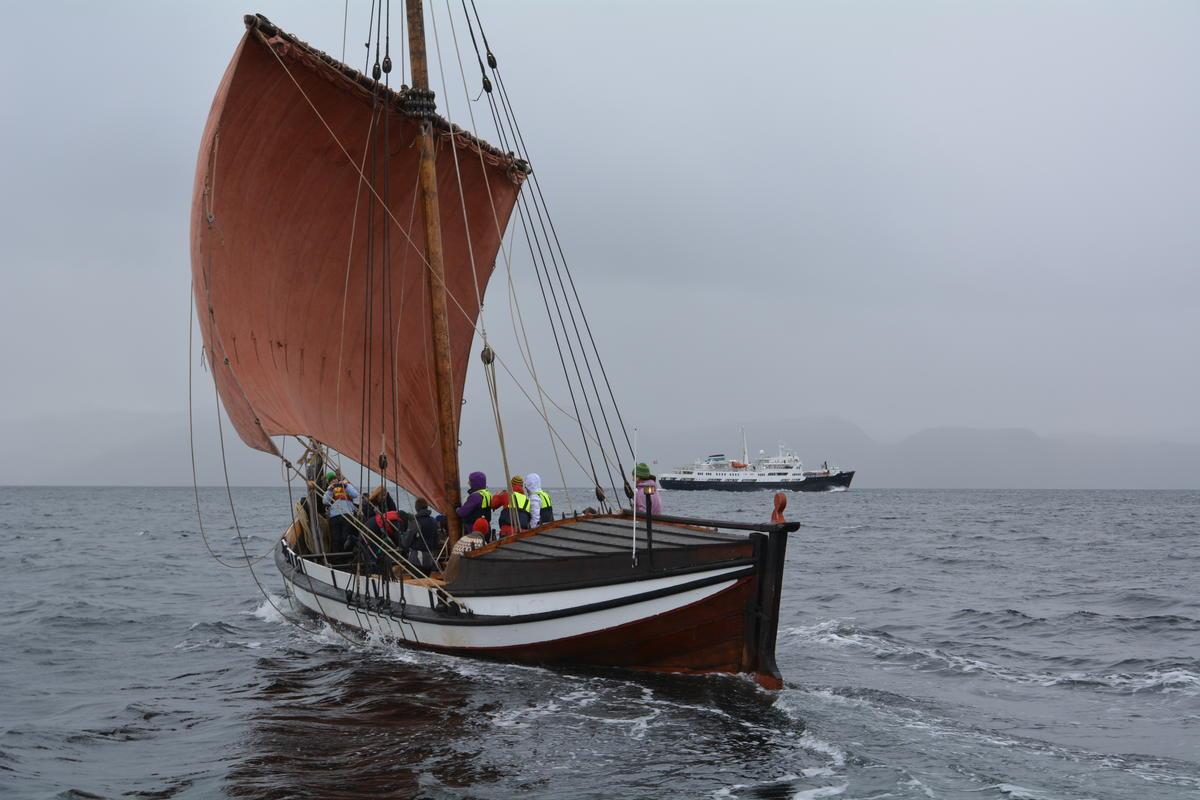 Åfjordsbåt. Lofotbåt (storfembøring), 48-60 ft. (Foto/Photo)