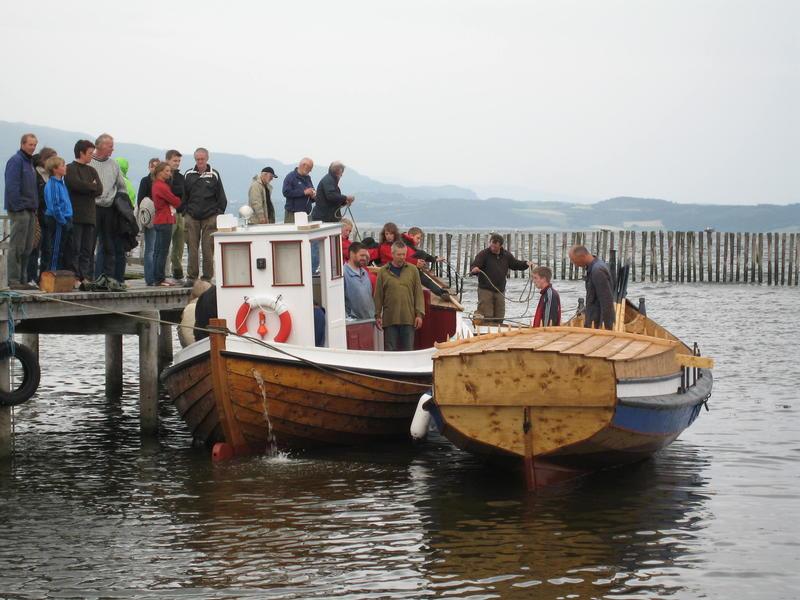 Børsabåten Eivind på sjøen for første gang.