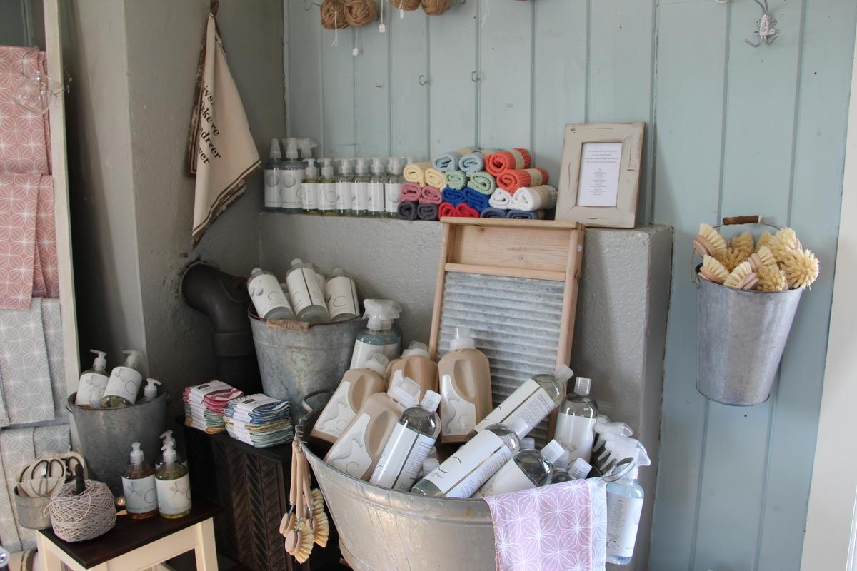 Vaskeprodukter utstilt i museumsbutikken (Foto/Photo)
