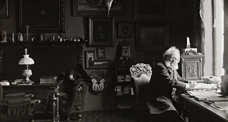Henrik Ibsen in his study