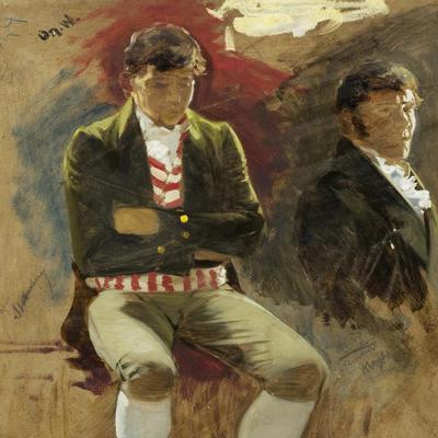 Portrett. To mann. Eidsvoll 1814. Oscar Wergeland