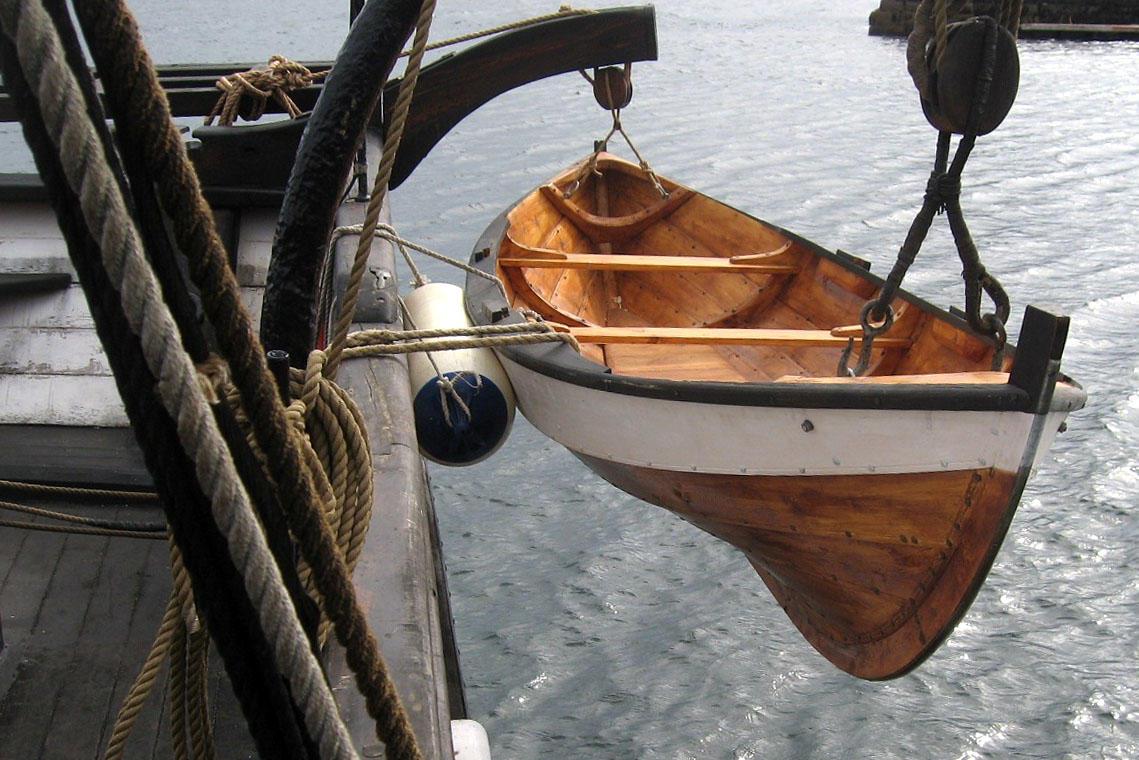 Åfjordsgeit som skipbåt til jekta Pauline. (Foto/Photo)