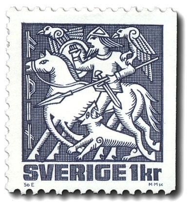 Oden, ridande på Sleipner vid Ragnarök.