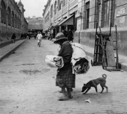 Gatubild från Bogotá. Juli 1935