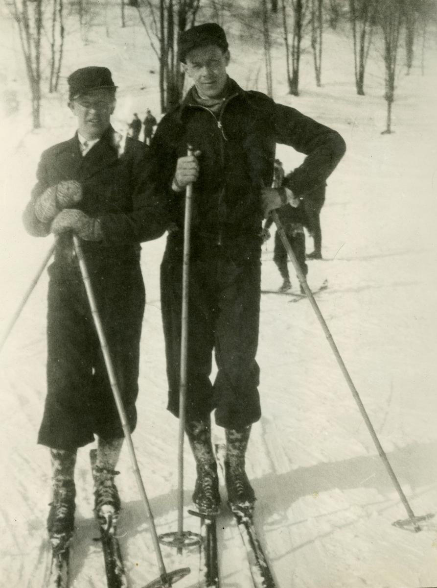 Athlets Birger Ruud and Hans Vinjarengen