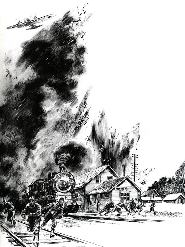 Toget med soldater bombes